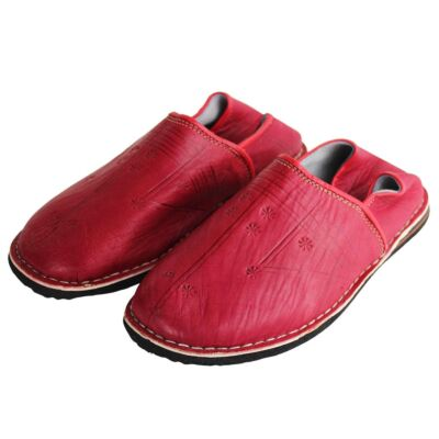 babouche homme rouge